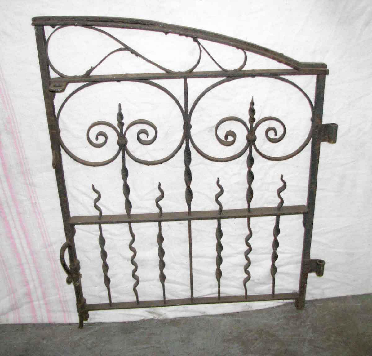 Arched antique iron garden gate olde good things
