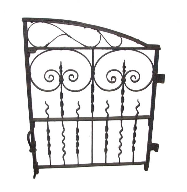 Arched Antique Iron Garden Gate - Gates