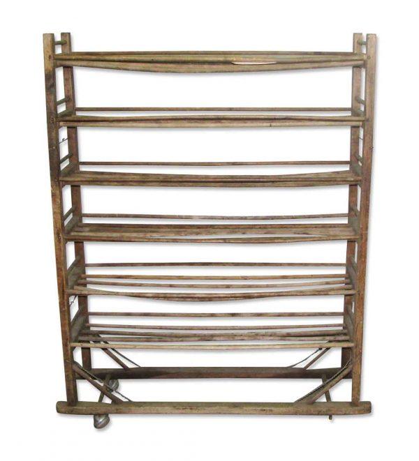 Wooden Shoe Rack on Wheels - Flea Market