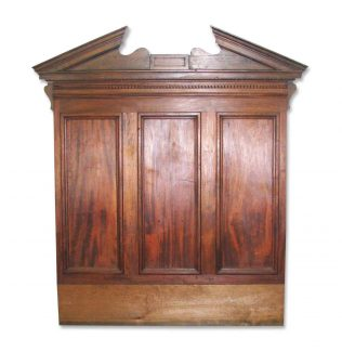 Antique Furniture, Bedroom, Furniture. $950.00. Architectural Walnut Piece  With Pediment Makes Great Headboard