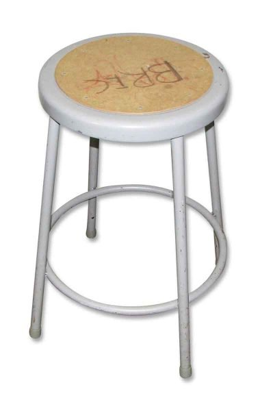 Metal Gray Stool - Seating