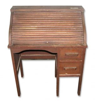 Childu0027s Small Vintage Roll Top Desk