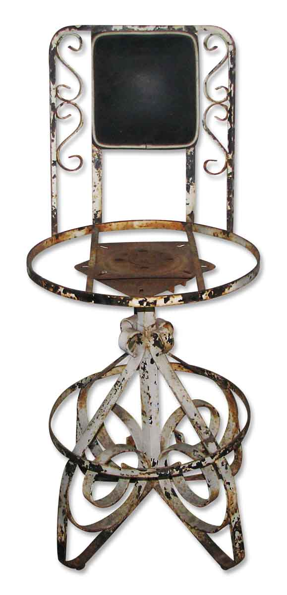 Wrought Iron Swivel Chair - Flea Market