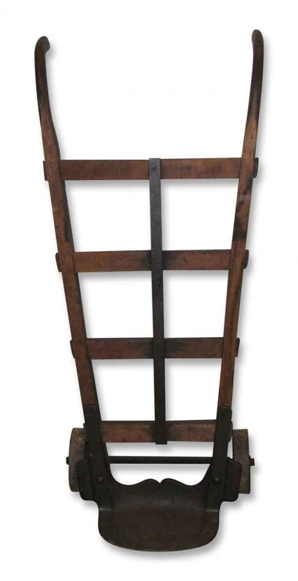 Oak Hand Truck with Iron Wheels - Industrial