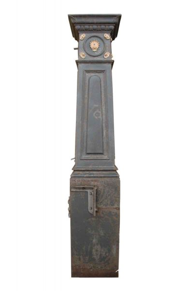 Iron Newel Post with Bronze Detail - Fencing