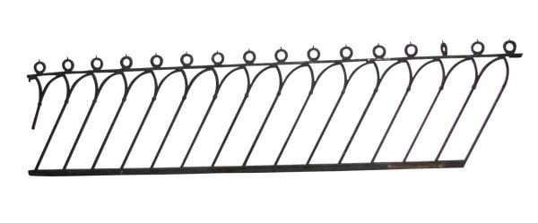 Wrought Iron Stair Railing with Gothic Design - Fencing