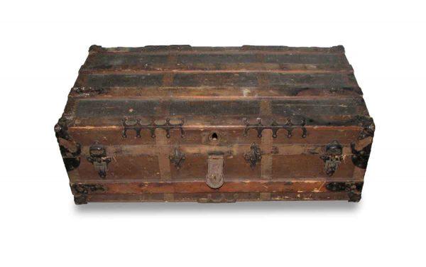 Antique Brown Storage Trunk - Trunks