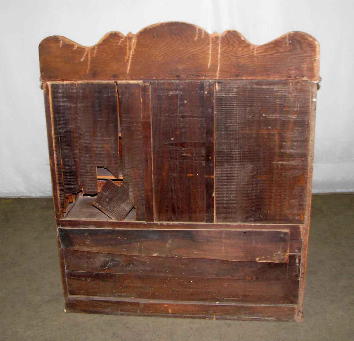Hoosier Style Oak Kitchen Cabinet