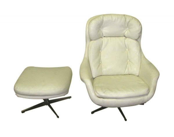 Mid Century Eames Style Arm Chair & Ottoman - Living Room