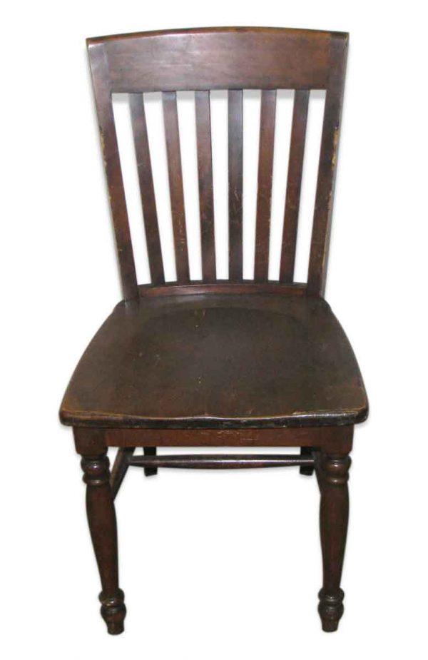 Original Antique Dark Oak Chair - Seating