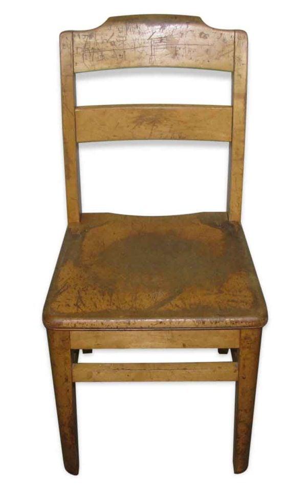 School Chair with Ladder Back - Flea Market