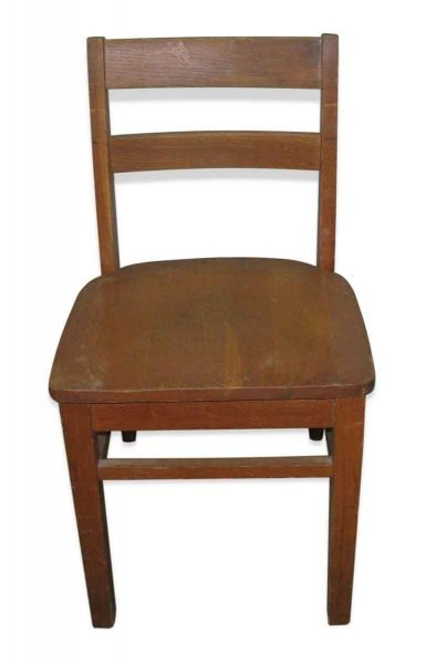 Old Wooden School Chair with Ladder Back - Seating
