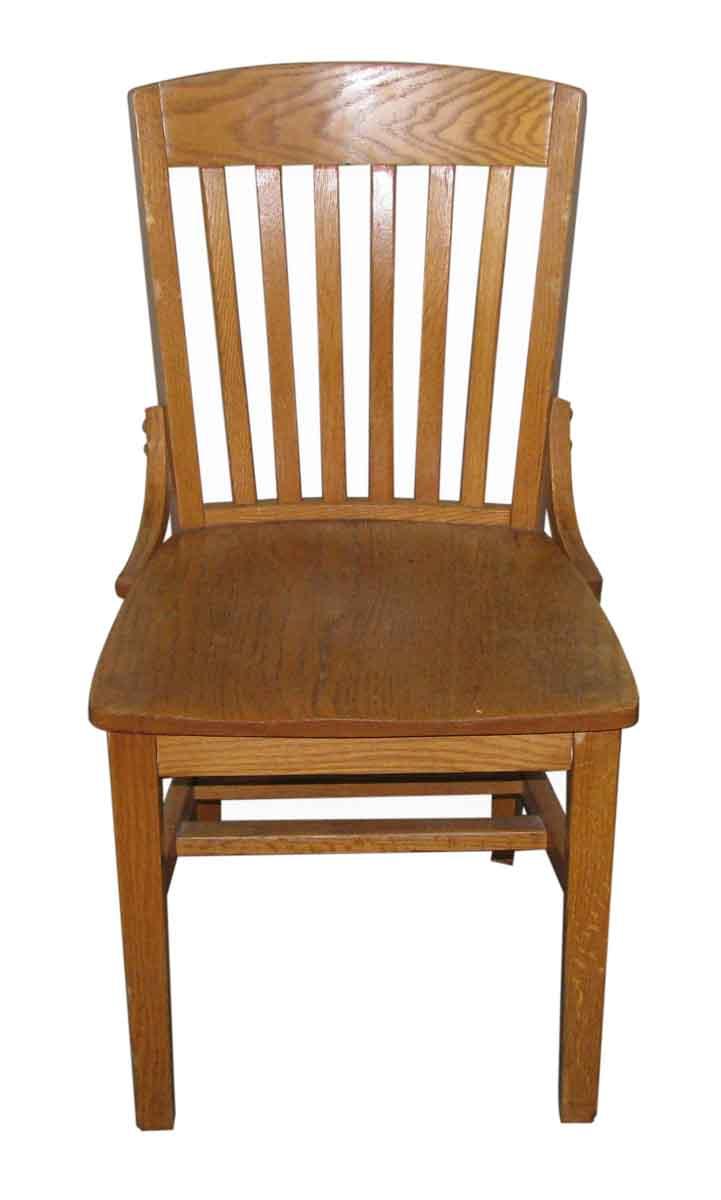 Oak slatted back vintage chair olde good things