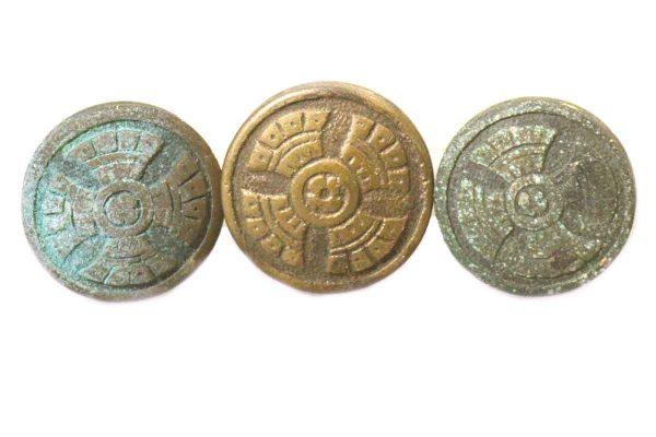 Set of Ornate Bronze Knobs - Cabinet & Furniture Knobs