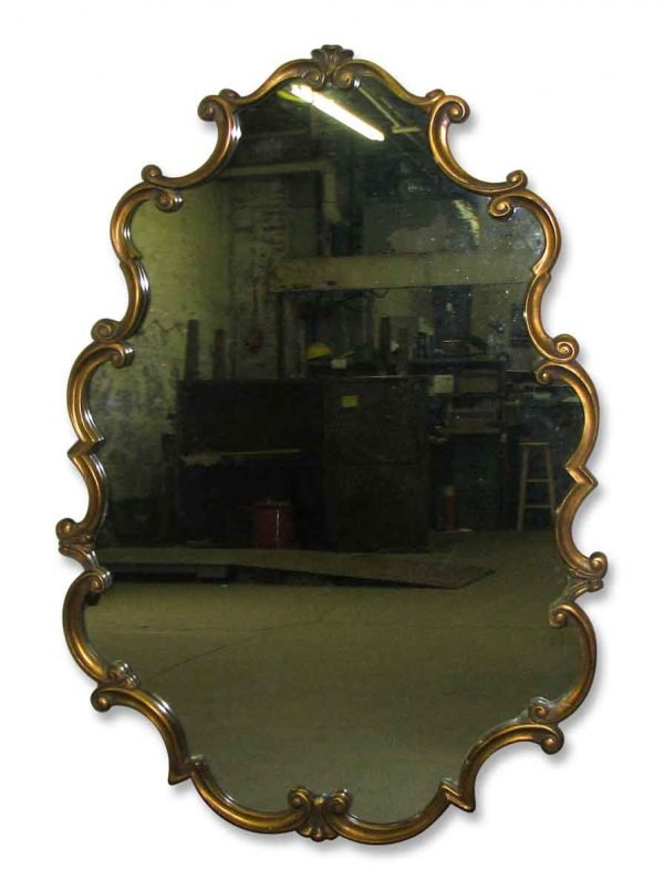 Rococo Style Modern Wood Framed Mirror - Antique Mirrors