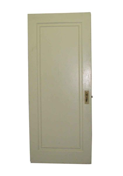 Single Graduated Recessed Panel White Painted Door - Standard Doors