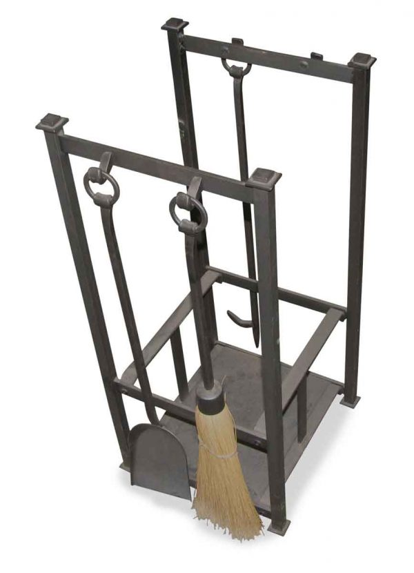 Wrought Iron Fireplace Tool Stand - Tool Sets