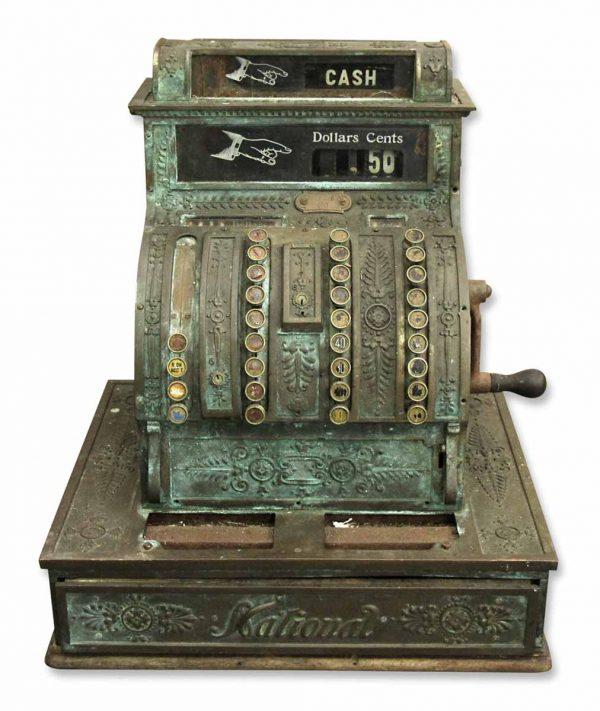 Old Bronze National Cash Register - Cash Registers