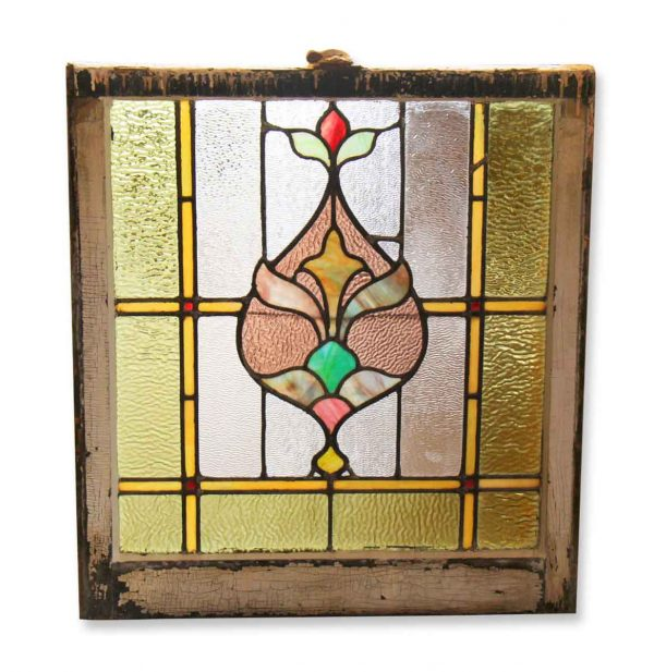Bottom Sash Stained Glass Landing Window - Stained Glass