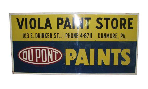 Vintage Metal Paint Store Sign - Vintage Signs