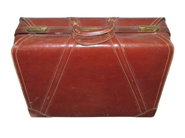 Vintage Leather Brief Case - Suitcases