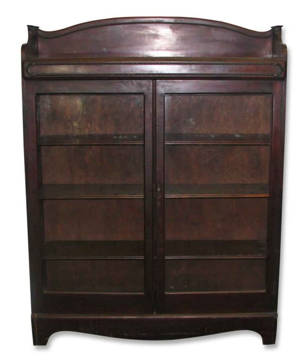 Mahogany Book Case or China Cabinet with Key - Cabinets