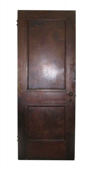 Two Panel Dark Wood Bank Doors made of Mahogany - Standard Doors