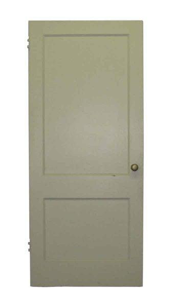 Two Panels Wide Door with White Paint - Standard Doors