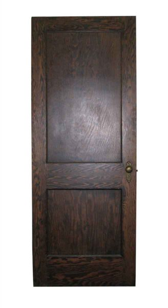 Two Panel Wooden Door - Entry Doors