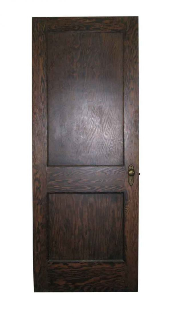 Two Panel Wooden Door - Entry Doors