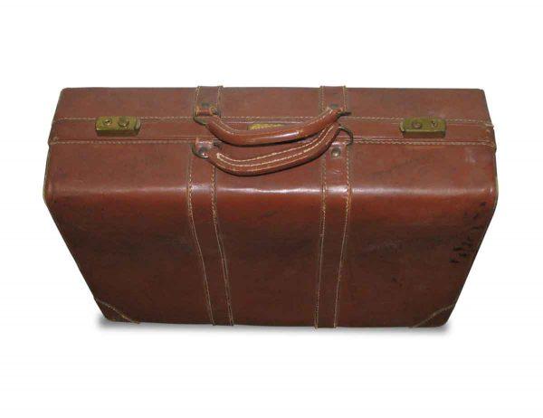 Vintage Leather Gladiator Suitcase - Suitcases