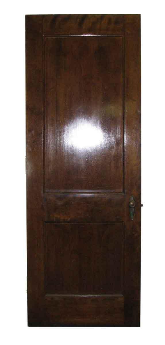 Two Panel Oak or Walnut Door with Nice Deco Hardware - Standard Doors
