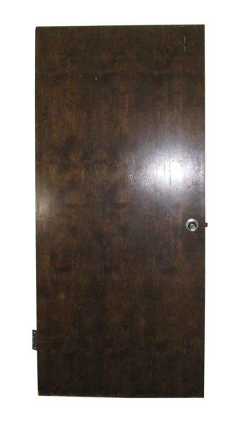 Wide Wooden Fire Door with Hinges - Commercial Doors