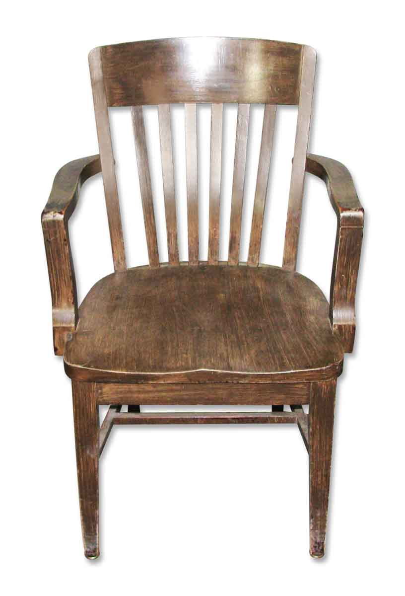 Wooden Bankers Chair With Arms