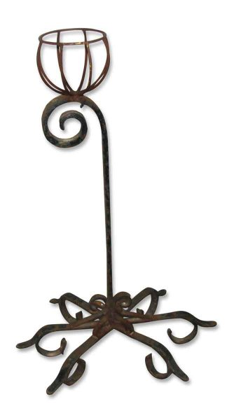 Wrought Iron Plant Holder on Stand - Garden Elements