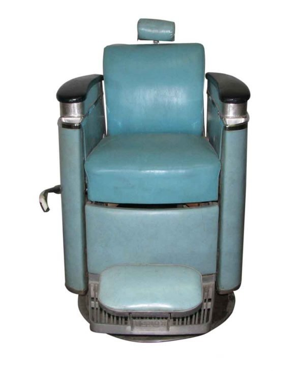 1940s Blue Koken Barber Chair - Commercial Furniture