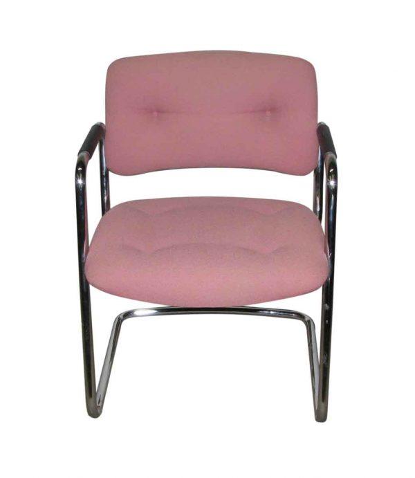 Comfy Cushion on Classy Chrome Frame Chair - Flea Market