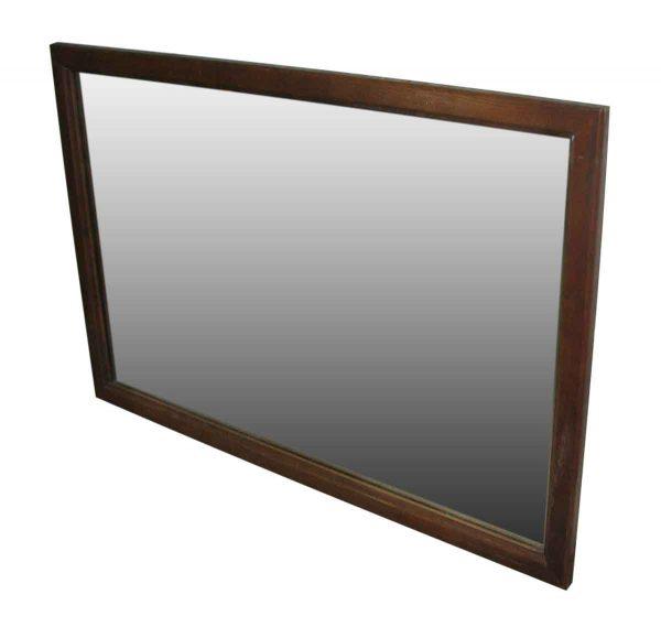 Simple Wood Framed Vintage Mirror - Antique Mirrors