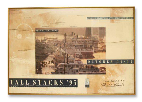 Tall Stacks Framed Print Signed - Prints