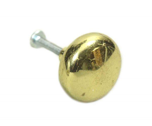 Round Brass Knob - Cabinet & Furniture Knobs