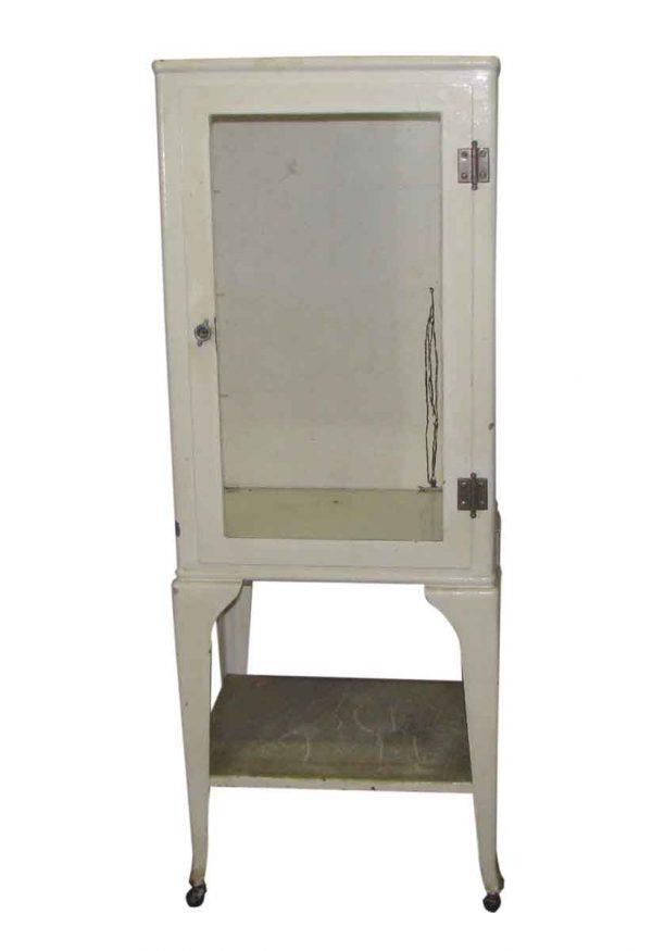 Vintage Medical Cabinet on Wheels - Cabinets