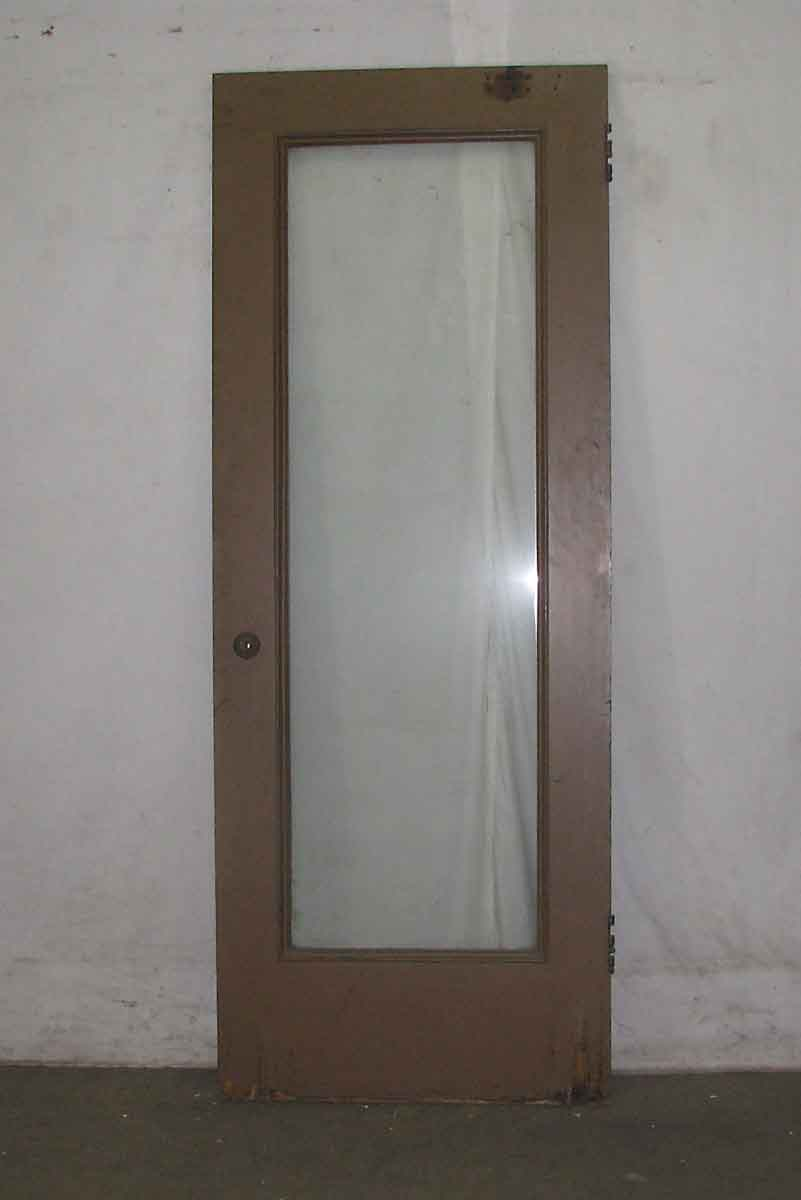 Full glass panel door with lime green paint olde good things for 10 panel glass door