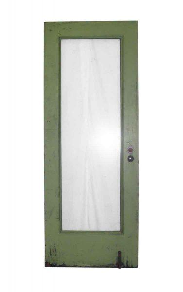 Full Glass Panel Door with Lime Green Paint - Standard Doors