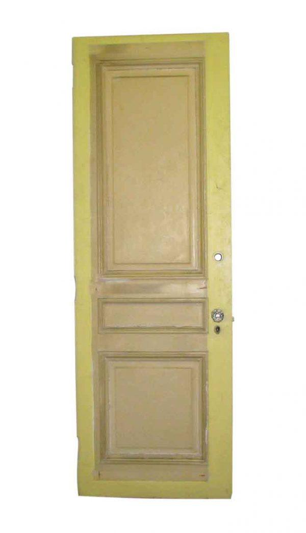 Three Panel Reclaimed Mahogany Door with Vintage Paint - Standard Doors