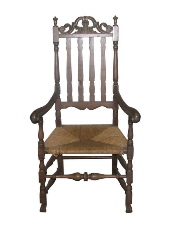 Ornate Carved High Back Chair - Seating