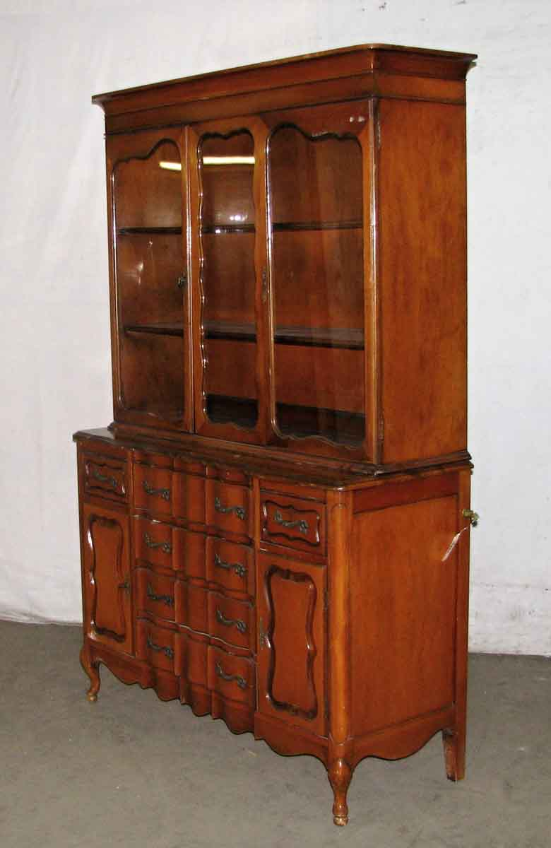 french provincial china cabinet provincial china cabinet olde things 15644