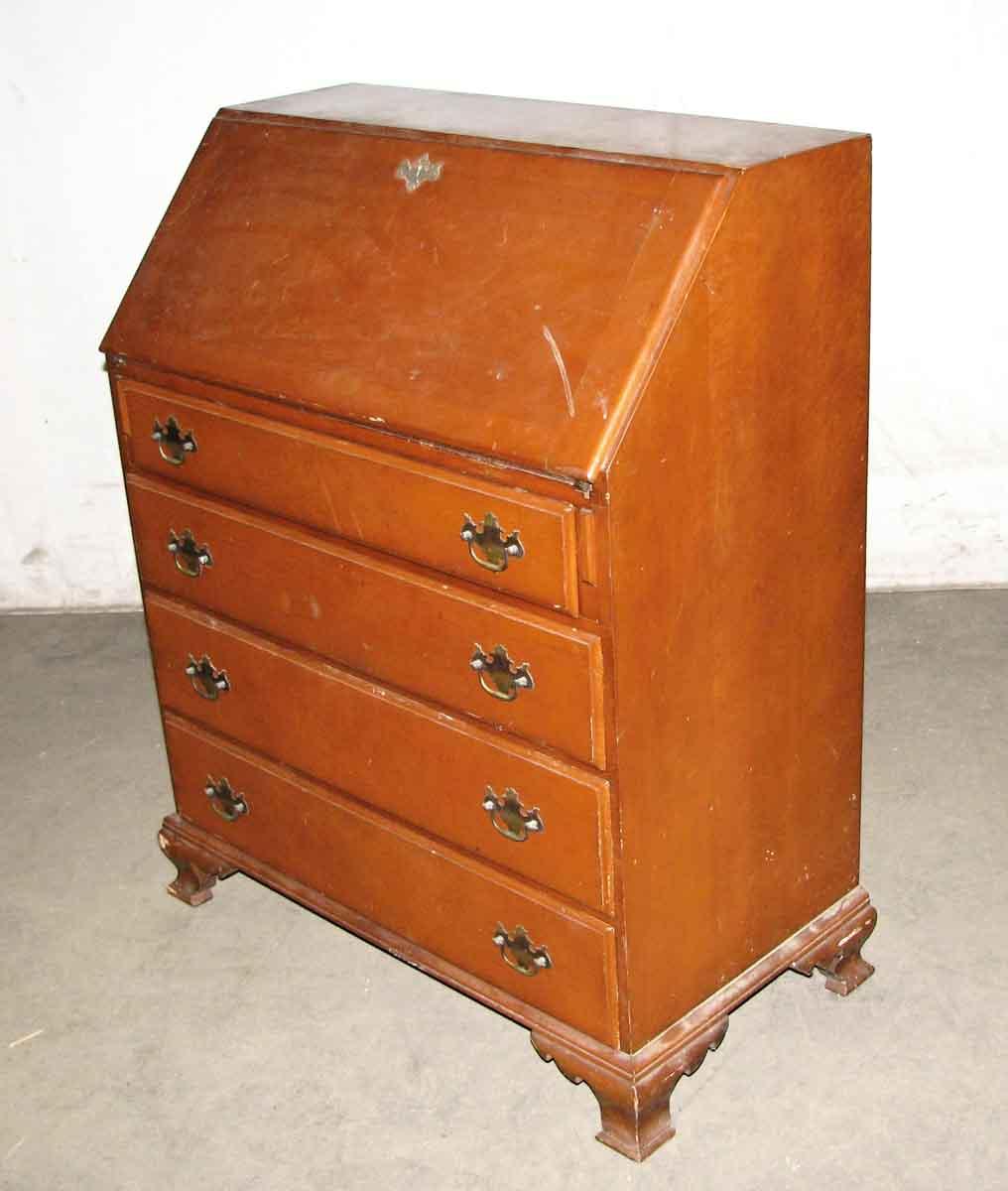 Vintage Maple Secretary Desk