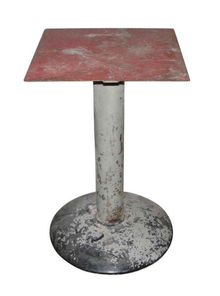 Vintage Industrial Metal Pedestal Table Base - Industrial