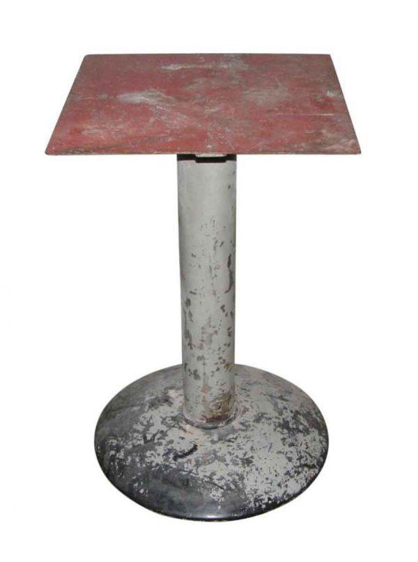 Vintage Industrial Metal Pedestal Table Base - Industrial