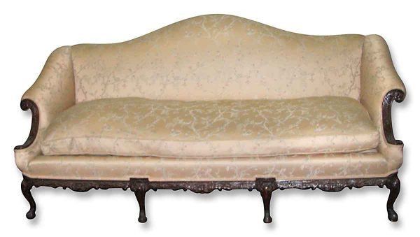 Georgian Sofa with Ivory Upholstery - Living Room